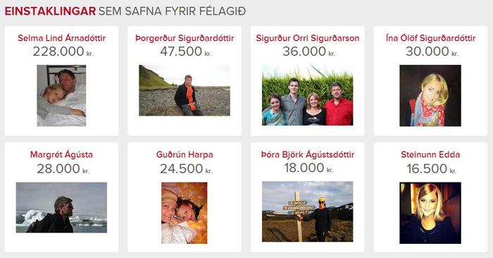 Hluti hlaupara í næsta Reykjavíkurmaraþoni sem hlaupa til styrktar Minningarsjóði Líknardeildarinnar í Kópavogi.
