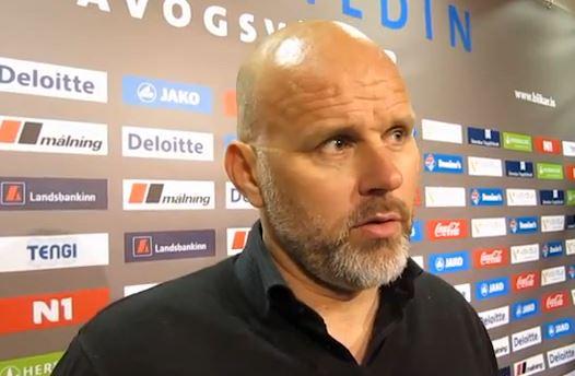 Ólafur Kristjánsson, þjálfari Blika, sáttur í leikslok eftir 3:0 sigur gegn KR.