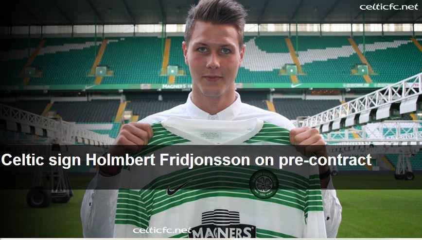 Hólmbert Aron Friðjónsson.  Mynd af heimasíðu Celtic.