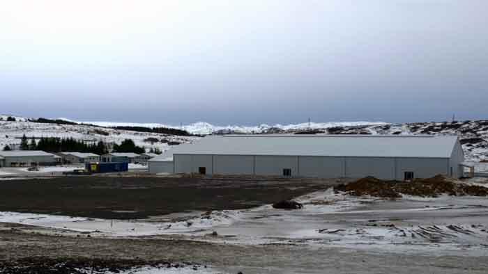 Nýja reiðhöllin við Kjóavelli.
