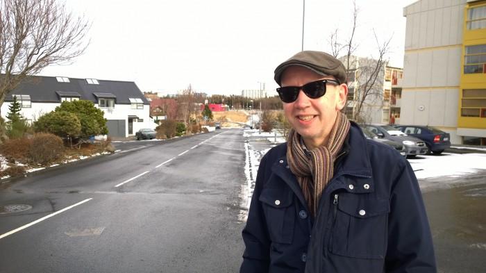 Björn Thoroddsen, gítarleikari á Kársnesinu.