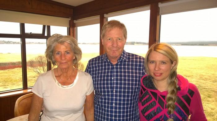 Þrjár kynslóðir á Kríunesi:  Helga Börndsóttir, Björn Ingi Stefánsson og Sara Björnsdóttir.