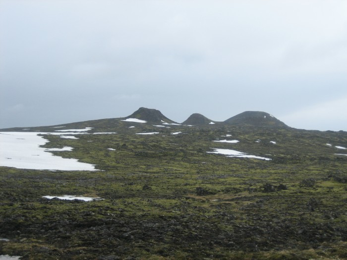 Á leið að Þríhnúkum.